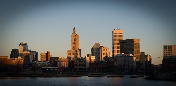 Downtown Providence from Point Street bridge